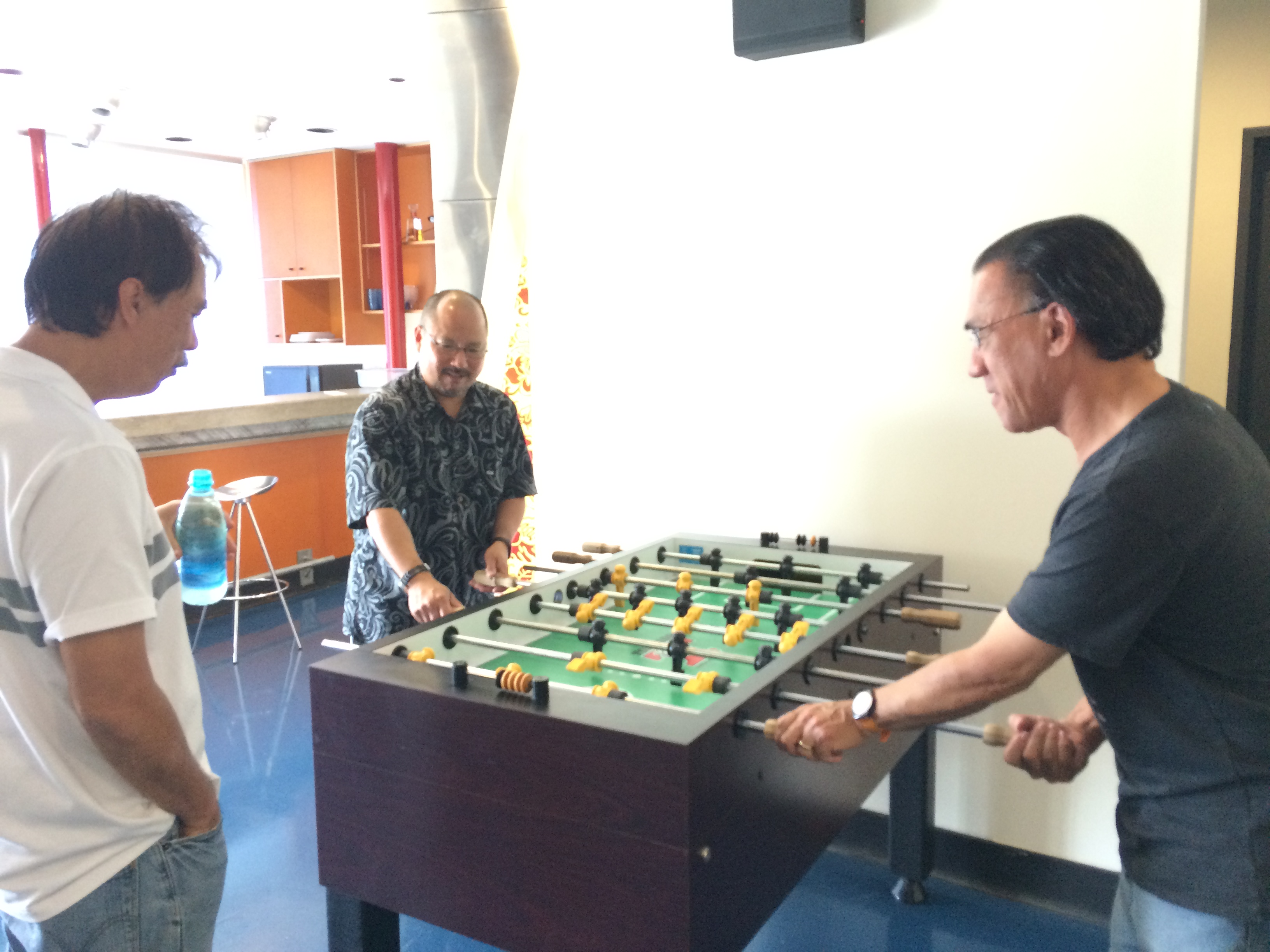 And they have a foosball table!