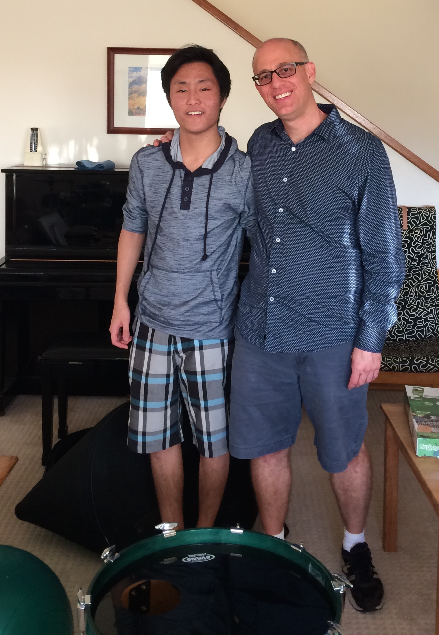 Many thanks to my drum student and LMU student Cameron Kuwada for swapping bass drums with me for my recording session!